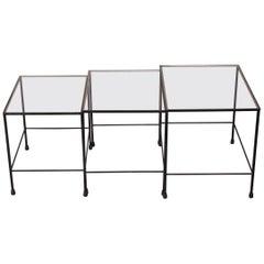 Mathieu Matégot Style Gigogne Table