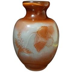 Emile Gallé Art Nouveau France Red Polished Glass Vase, 1900s