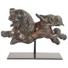 Dog Fô Current In Lacquered Bronze, China