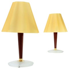Glass Diffuser Table Lamp by Fabbian, 1990s, Set of 2