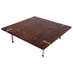 Gastone Rinaldi Wood Square Coffee Table, circa 1960, Italy
