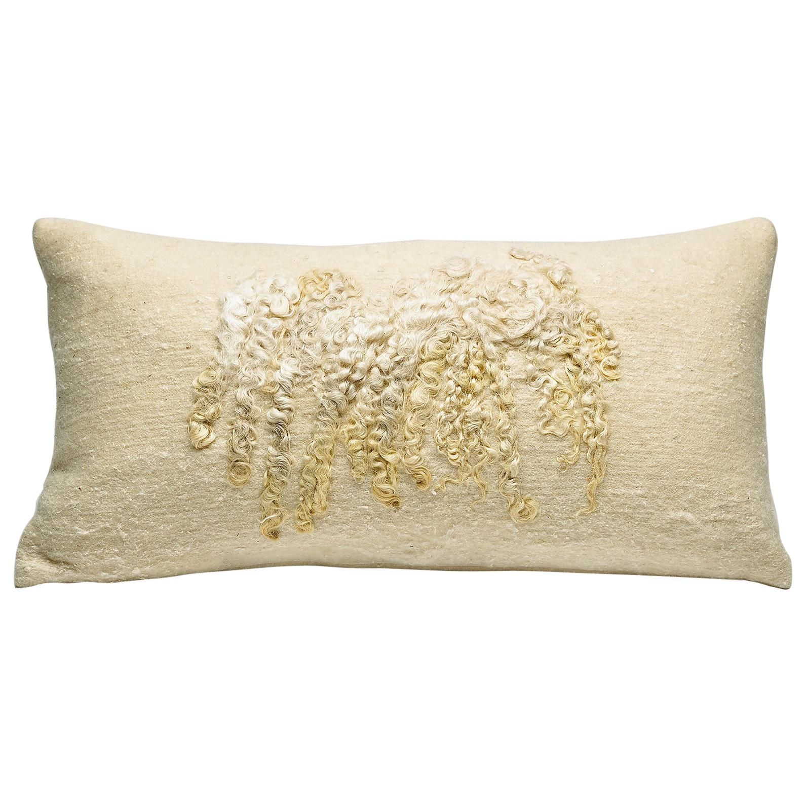 Luxury Wool Wensleydale Pillow, Small - Heritage Sheep Collection