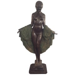 Exceptional French Art deco J.E Descomps Bronz, 1925