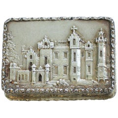 Victorian Silver Gilt Castle Top Vinaigrette Abbotsford House by N Mills, 1838