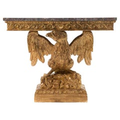 George II Style Carved Giltwood Eagle Console