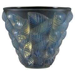 Art Deco Opalescent Glass Vase Entitled 'Moissac' by René Lalique