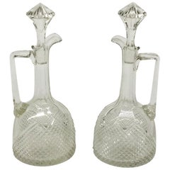 Crystal Wine/Liqueur Bottles/Carafe/Decanters with Diamond Cut Sharpening