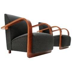 Italian Modernist Armchair, 1940s, Set of Two