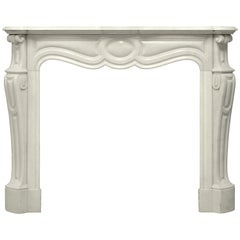 Antique Pompadour Style Fireplace Mantel