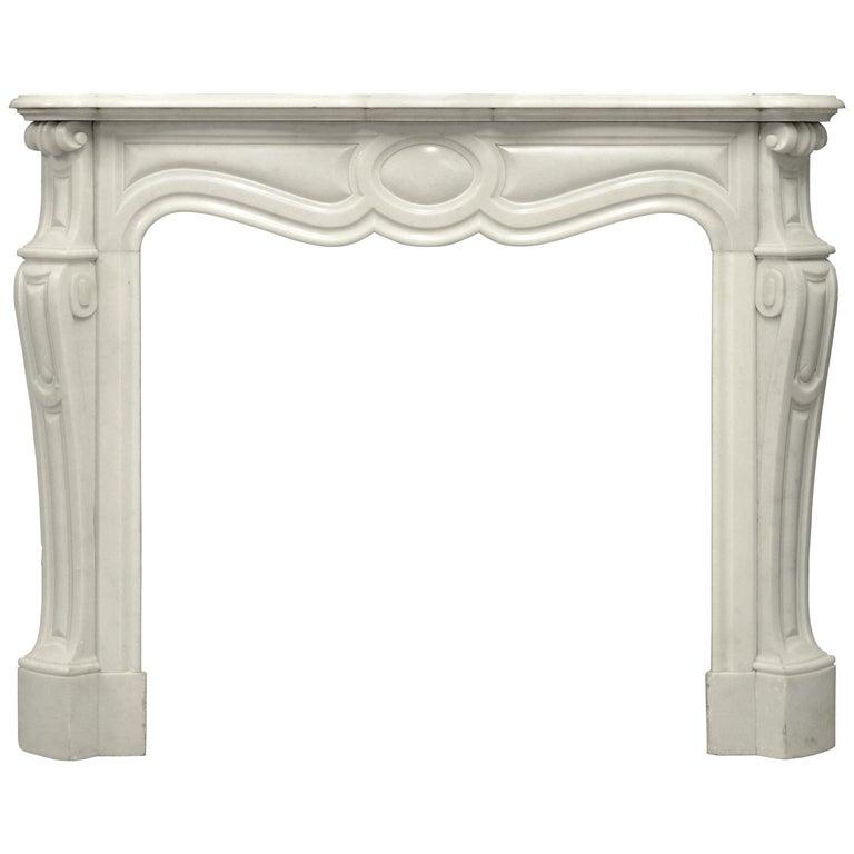 Antique Pompadour Style Fireplace Mantel For Sale
