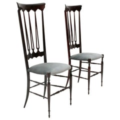 Italian Mid-Century Chiavari Chair by Chiappe Guido, 1950s, Set of 2