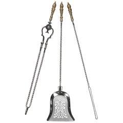 Set of Three 19th Century Fire Irons