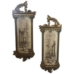 Italian Gilted Wall Sconces