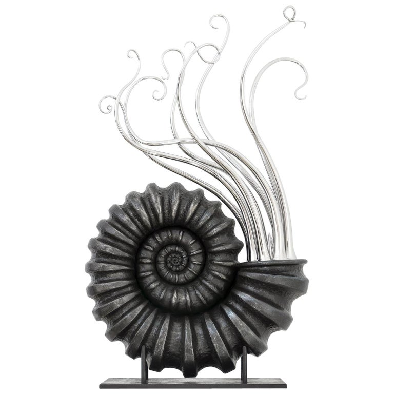 "Beautiful Sculpture ""Ammonidea"" by Giovanni Rotondo, Italy For Sale"