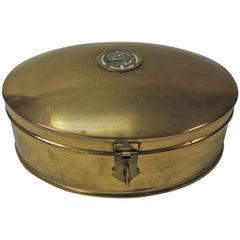 Vintage Brass Oval Lidded Decorative Box