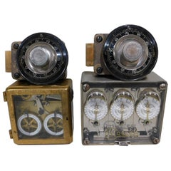 Pair of Antique Bank Vault Safe Timers Locks Tumblers