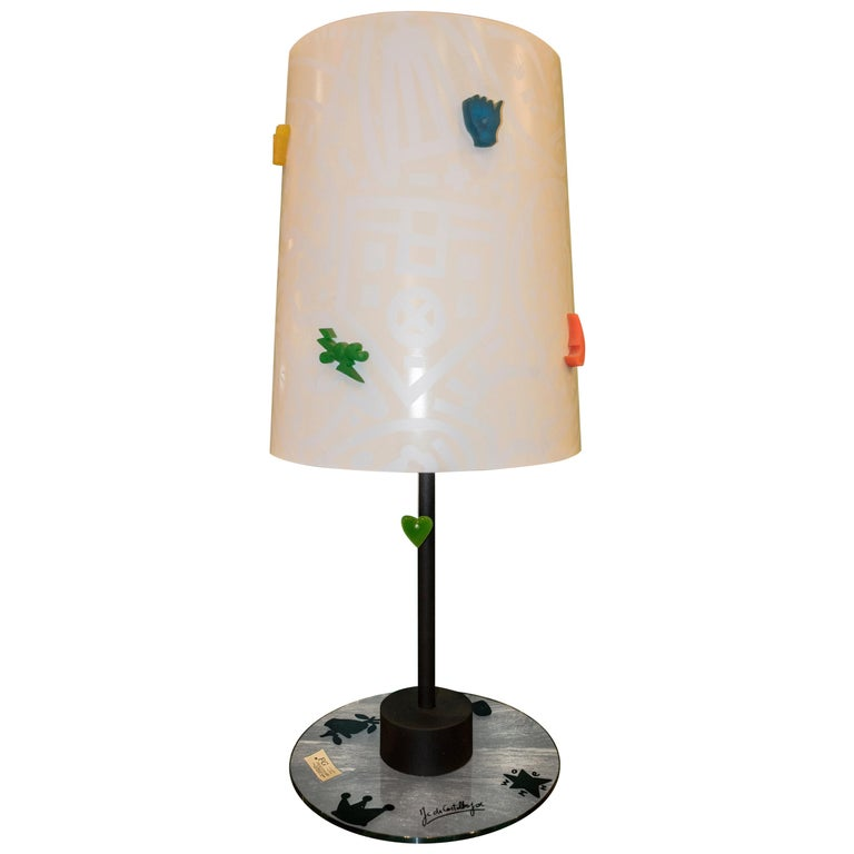 J.Charles Castelbajac Table Lamp with Diferentescolors and Patterns of Stars For Sale
