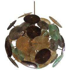 Murano Sputnik Art Glass Midcentury Chandelier, 1960