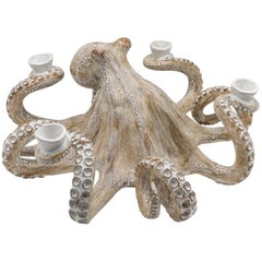 Handmade Ceramic Octopus Candelabra