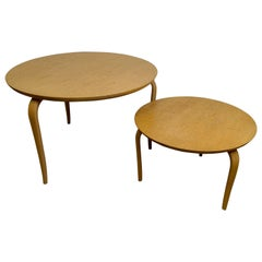 Pair of Occasional Tables Annika Designed by Bruno Mathsson
