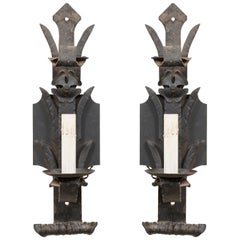 Pair of French Mid-20th Century Iron Sconces