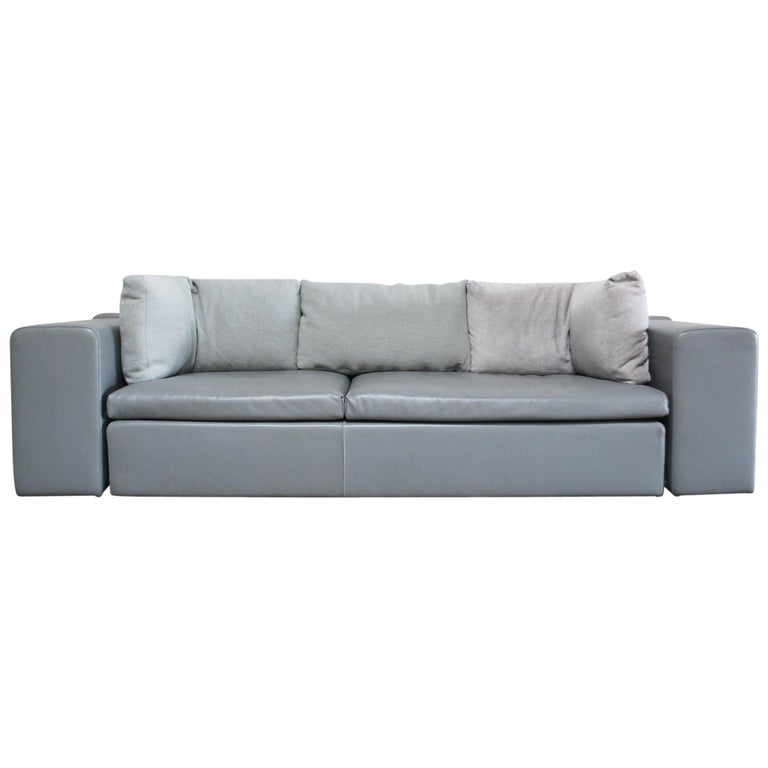 Awe Inspiring Moroso Leather Sofa Model Springfield By Patricia Urquiola Grey Interior Design Ideas Skatsoteloinfo
