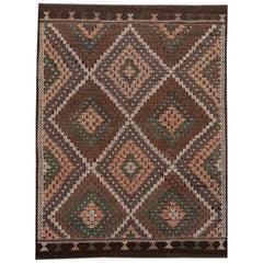 Vintage Sumahk Flat-Weave Rug