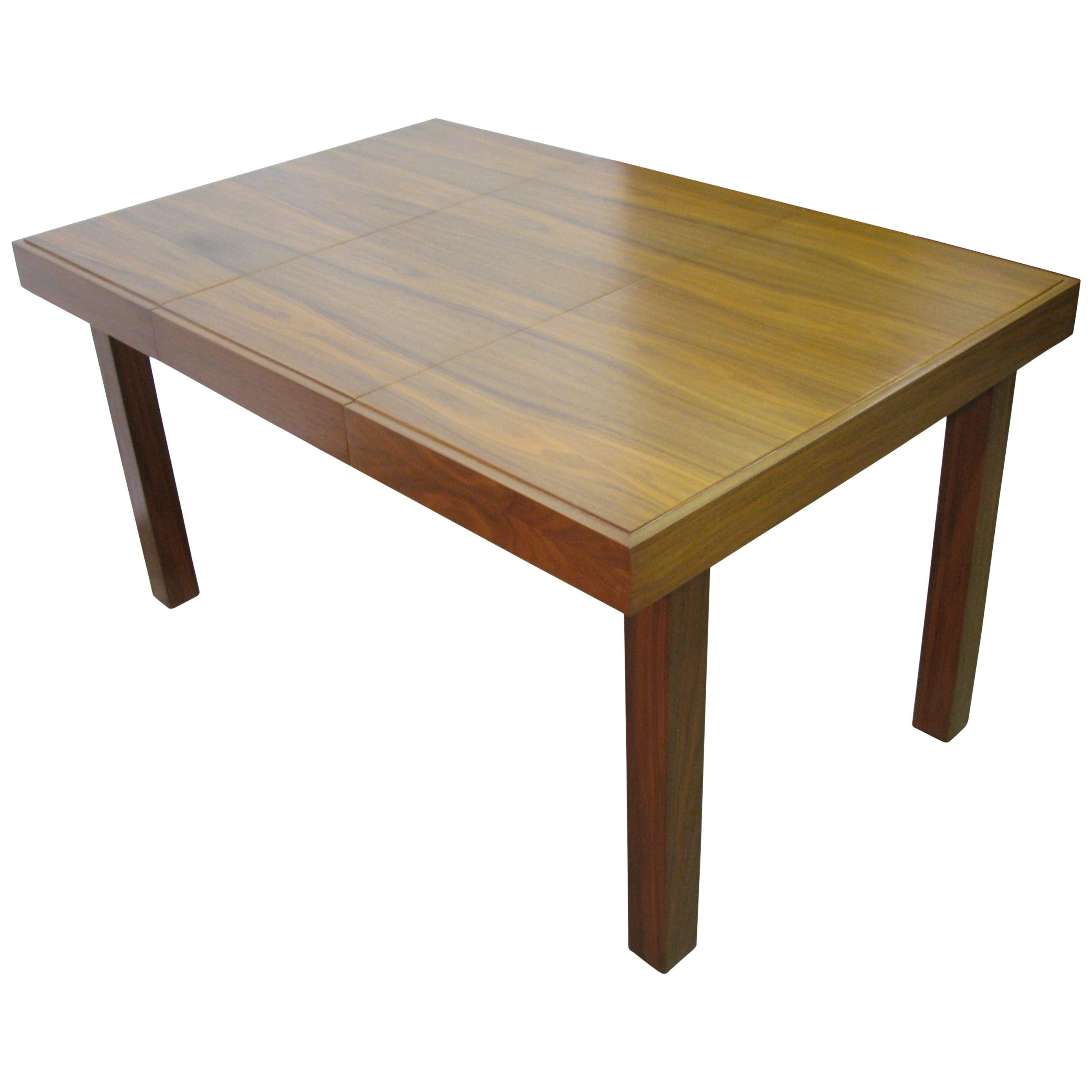 1950s George Nelson for Herman Miller Midcentury Walnut Dining Table