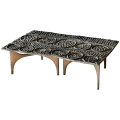 Donald Drumm, Unique Studio Coffee Table, Sand Cast Aluminium, America, 1970s