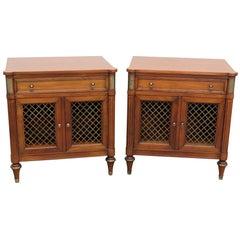 Pair of Kindel Furniture Belvedere Regency Style Nightstands