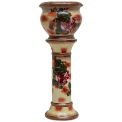 Staffordshire Planter Jardinière on a Column