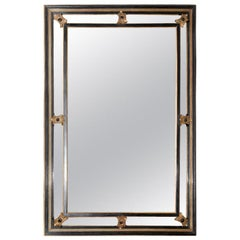 French Napoleon III Mirror with Giltwood Accents