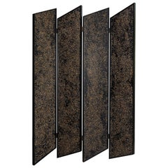 Prairie Divider Screens in Lacquered Aluminum, Composite Panels, Brass Hardware