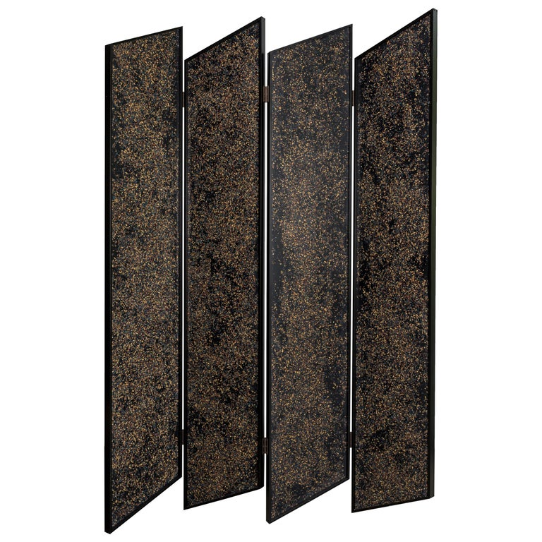 Prairie Divider Screens in Lacquered Aluminum, Composite Panels, Brass Hardware For Sale