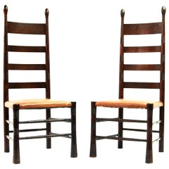 Pair of Aesthetic Movement Chairs Attributed to E.G. Punnet & William Birch