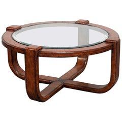Mid-Century Modern Design Glass Top Coffee Table