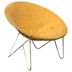 Elegant Sixties Chair in Style of Ferrari and Hardoy Plus Bertoia, circa 1960