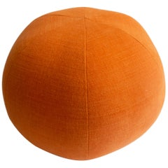 Round Ball Pillow in Orange Fabric