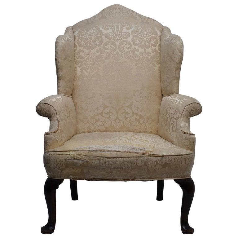 George III Wingback Chair, English, circa 1800 For Sale