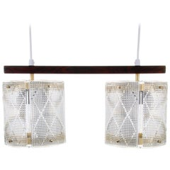 Double Crystal Light Fixture by Eriksmålaglas in the 1950s