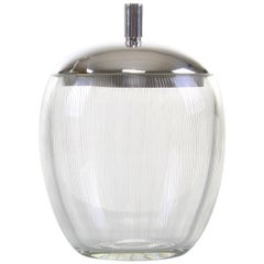 Marmalade Jar by E. Dragsted & Holmgaard in 1951, Vintage Etched Glass Jam Jar