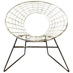 Elegant 1960s Chair in Style of Ferrari and Hardoy Plus Bertoia, circa 1960