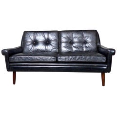 1960s Danish Leather Sofa by Svend Skipper