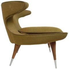Rare Sculptural 1950s Horn Chair by Karpen of California