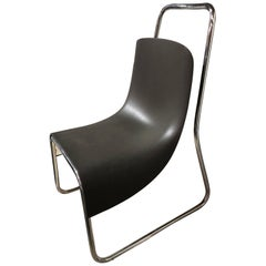 Modern Black Littlebig Armless Chair by Jeff Miller