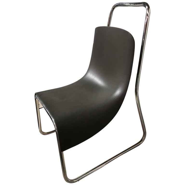 Modern Black Baleri Littlebig Armless Chair by Jeff Miller For Sale