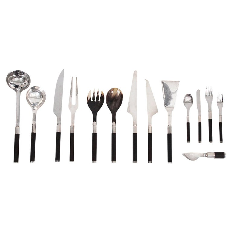Afra and Tobia Scarpa for San Lorenzo Studio Silver Flatware For Sale