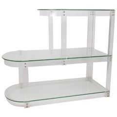 Vintage Lucite and Glass Shelving
