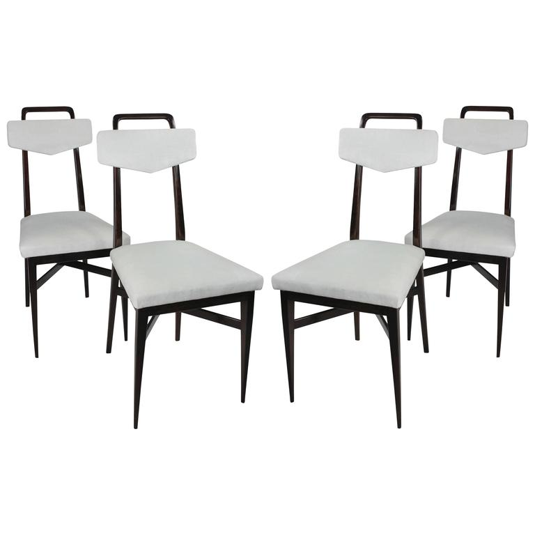 Set of Four Dining Chairs in the Manner of Parisi For Sale