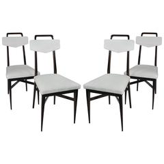 Set of Four Dining Chairs in the Manner of Parisi